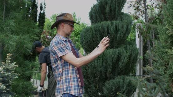 Thumbnail for Gardener Using Tablet in Nursery Garden