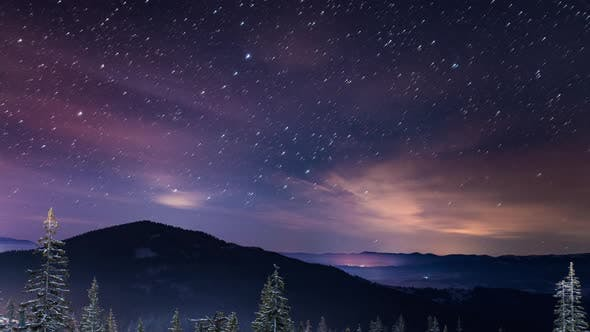 Cover Image for Starry Time Lapse in Carpathian Mountains