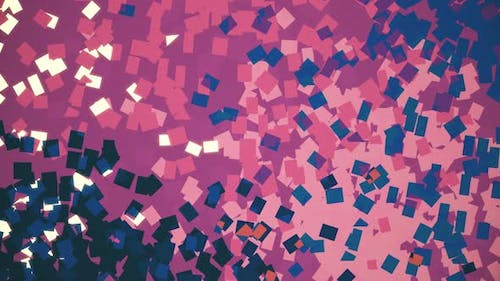Abstract lo fi Purple Squares Background Animation. Pointillistic Art Effect.