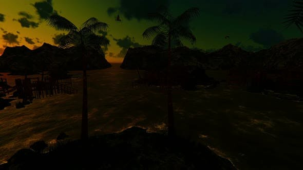 Cover Image for Tropical Paradise At Sunset 2k