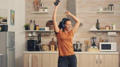 Positive Woman Dancing
