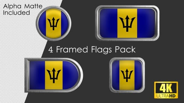 Thumbnail for Framed Barbados Flag Pack