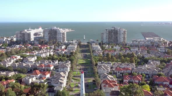 Thumbnail for Port Melbourne an Affluent Seaside Suburb in Australia with Lighthouse Beacons