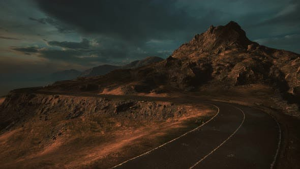 Thumbnail for Mountain Landscapes in Scotland with Road