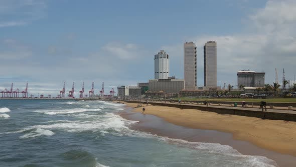 Galle face a five hectare ocean-side urban park, Colombo