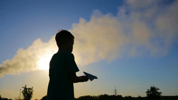 Kid Playing With Plane