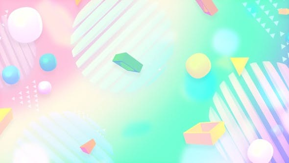 Thumbnail for Abstract Pink and Green Shapes Background
