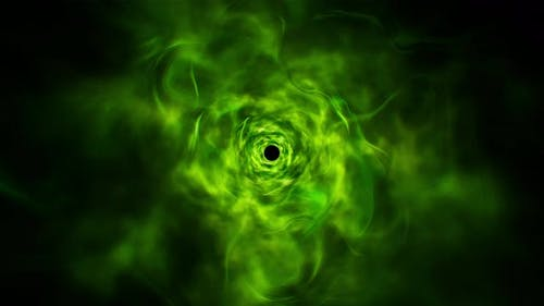 Abstract Green Poison Energy Effect Loop 4K