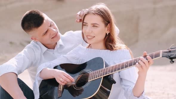 Boyfriend Teaching Girlfriend How To Play Song in Career