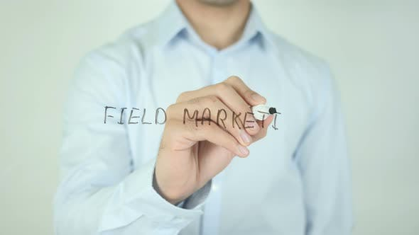 Cover Image for Field Marketing, Writing On Screen