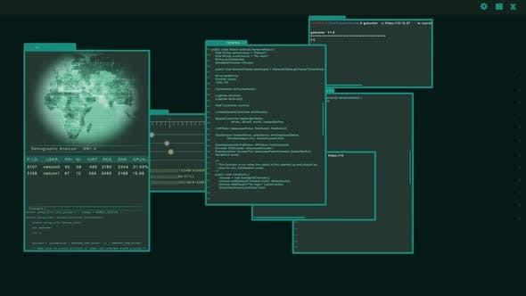 Access Granted - Virtual Interface or HUD Presenting a Hacked Server