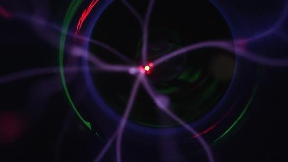 Thumbnail for Laser von Plasma-Kugel bewegen sich in Zeitlupe