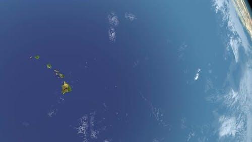 Hawaiian Islands in Planet Earth