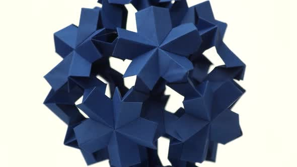 Sperical Modular Origami Object.