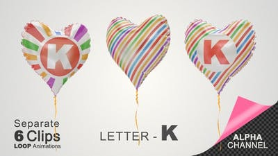 Balloons with Letter - K