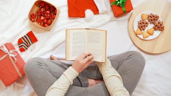 Thumbnail for Top View Male Leisure Time at Home Christmas Holidays