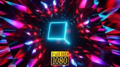 Pulsing Neon Cube HD