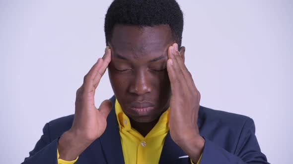Thumbnail for Face of Young Stressed African Businessman Having Headache