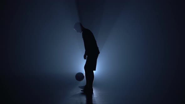 Thumbnail for Football Freestyle. Silhouette of Slim Figure.