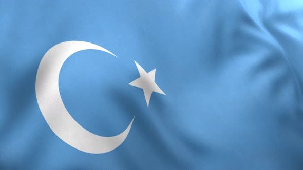 East Turkestan Flag / Uyghur Flag - 4K