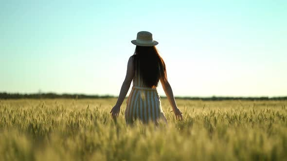 Thumbnail for Woman Walking in a Field with Open Arms