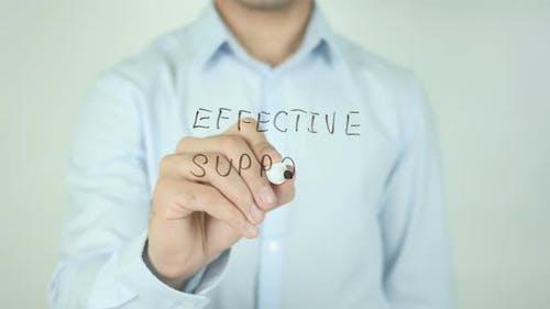 Effektive Unterstützung, Schreiben auf dem Bildschirm