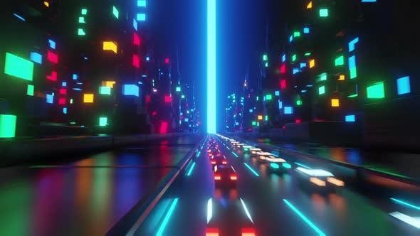 Neon City Traffic
