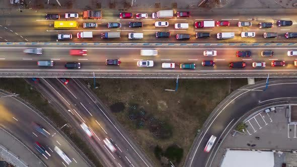 Thumbnail for Rising Drone Shot Reveals Spectacular Elevated Highway, Bridges, Transportation and Infrastructure
