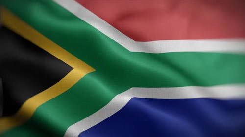 South African Flag Front
