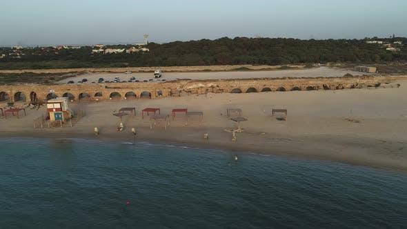 Luftweite Aufnahme von Caesarea Maritima