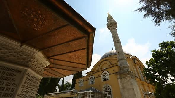 Thumbnail for Istanbul Ottoman Altunizade Mosque And Fountain Sadirvan Timelapse