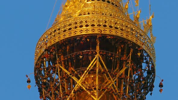 Thumbnail for Top of Shwedagon Pagoda in Yangon, Myanmar