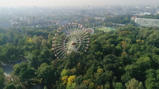 Cover Image for Ferris Wheel in Amusement City Park of Minsk City