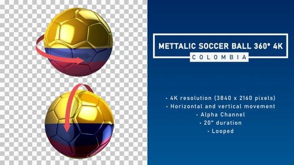 Metallic Soccer Ball 360º 4K - Colombia