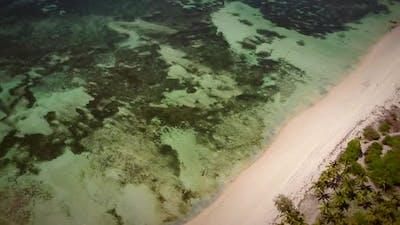 Aerial view of the paradisiac coast of Mafia Island, Tanzania.