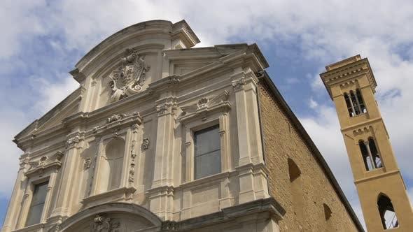A building with a Baroque style facade