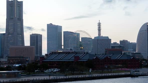 Thumbnail for Yokohama Ferris Wheel During Whole Day Timelapse
