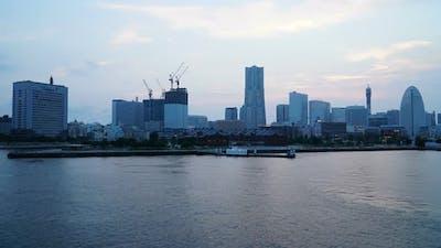 Beautiful building around Yokohama city in Japan