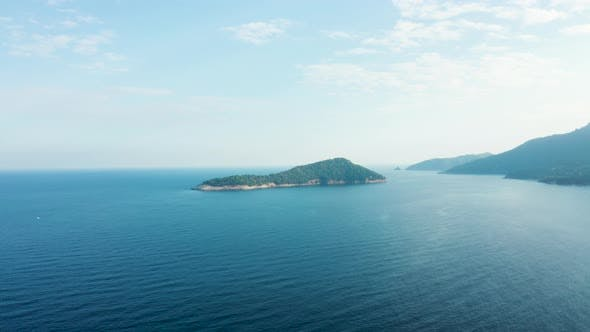 Thumbnail for Drone Flying Over Beautiful Blue Sea with Waves
