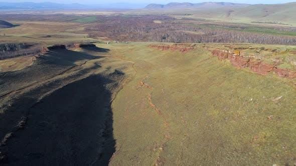 Aerial View Mountain Range