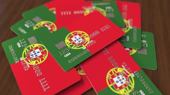 Thumbnail for Pile of Credit Cards with Flag of Portugal