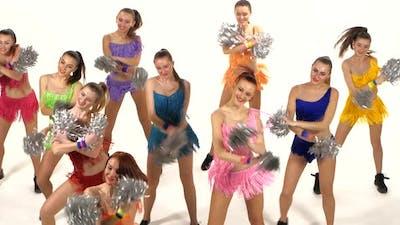 Cheerleading, Girls Dancing Smiling at the Camera