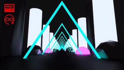 Triangle Neon Loop Road