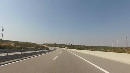 Fahren auf der Autobahn
