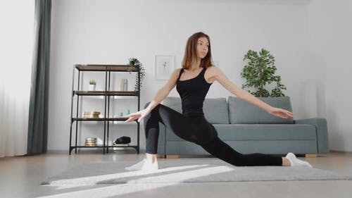 Fitness Woman Stretching Body