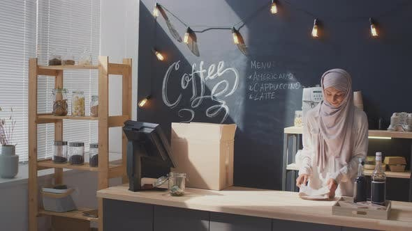Thumbnail for Coffee Shop Worker Opening Corner