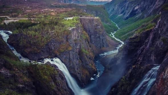 Thumbnail for Time-lapse Voringsfossen Waterfall