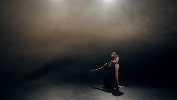 Flexible Fit Dancer Performing Modern Choreography