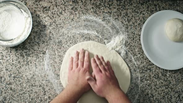Forming Pizza Crust