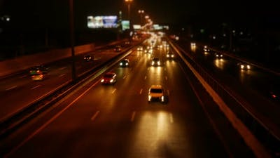 Freeway In Night